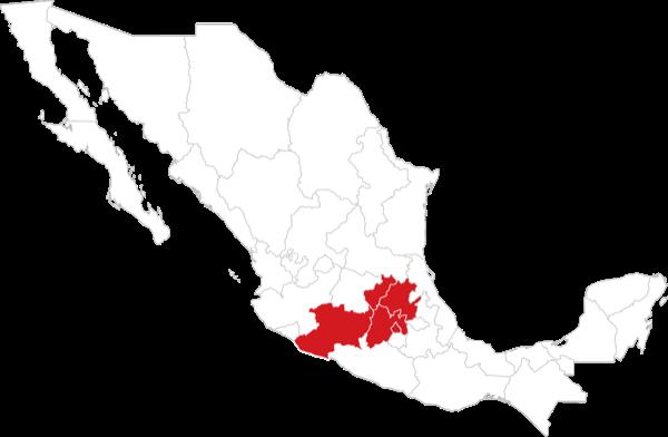 Centro: Ciudad de México, Estado de México, Querétaro, Hidalgo y Michoacán